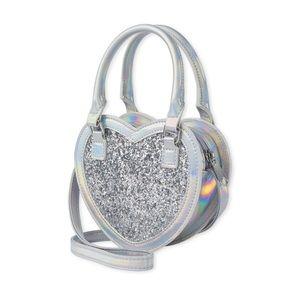 NWT Children's Place Girls Glitter Heart Bag